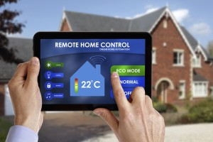 Home-automation ipad hands house